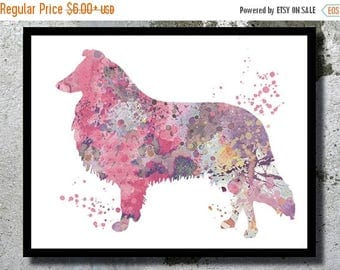 SUMMER SALE Rough Collie Watercolor Art Print Dog Watercolor Home Decor Watercolor painting Dog Illustration Children Wall Decor Nursery Col
