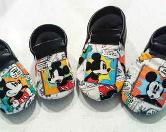 Comic book mickey shoes