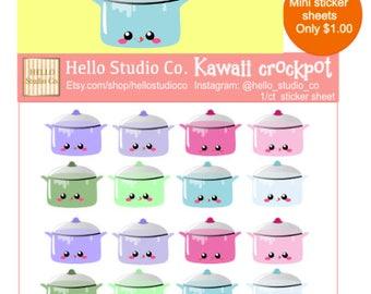 Kawaii crockpot planner stickers