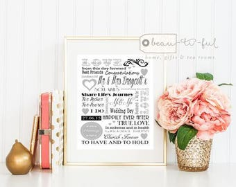 Personalised Wedding Print - I do - Wedding Day