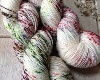 Winter Berries - Merino Wool/Nylon Sock Yarn.