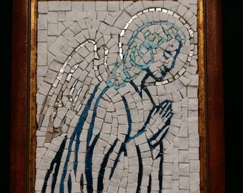 guardian angel in mosaic
