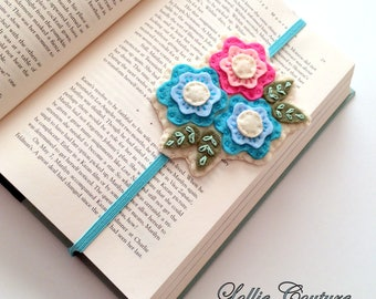 Felt Bookmark - Bookclub Gift, Teacher Gift, School, Gifts for her, book mark, bookmarks
