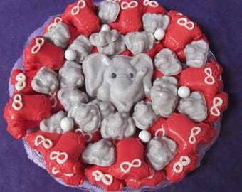Elephant Onsie baby shower chocolates candy tray