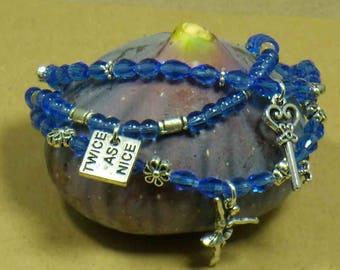 the dancer blue bracelets.