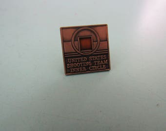 Vintage United States Shooting Team Inner Circle Lapel Pin Free Shipping