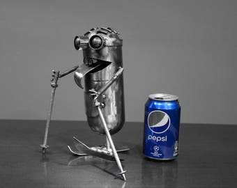 Minions  metal art Robot   sculpture   - Scrap metal art - Recycled Handmade Art - perfect gift for Christmas - Birthday ridiculous funny