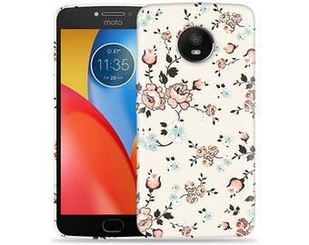Motorola Moto E4 Case - Motorola E4 Case #Flowery Vines Hard Phone Cover