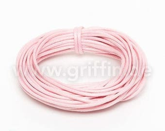 SALE 15% OFF 5m waxed cotton, 1mm, light pink, 5 m, cotton tape, jewellery band, Griffin, jewelry, cord, cotton, waxed, jewelry lanyard