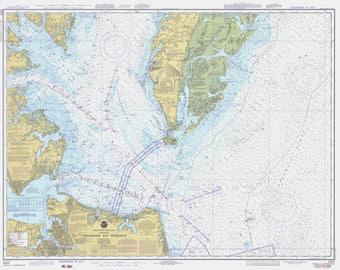 Chesapeake Bay Map 1978 (Entrance)