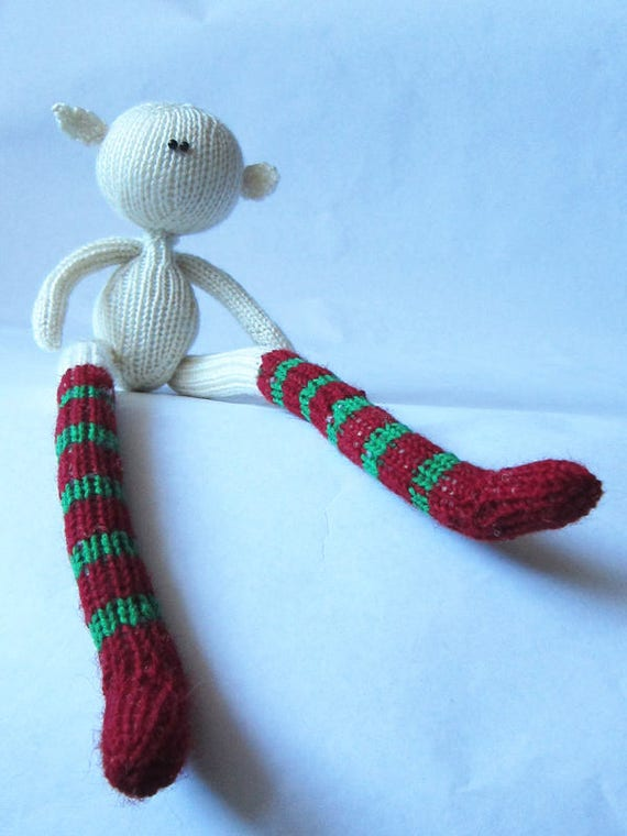 Knitting Toys In The Round : Doll elf boy pattern pdf for knitted round
