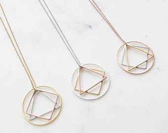 Golden chain Tricolore-brass Gold/rosegold/rhodium plated
