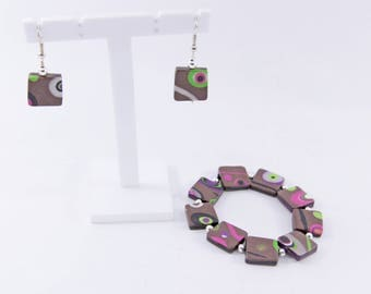 "Finery ""vitamins"" version 2: bracelet and earrings"