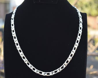 Mens .925 Sterling Silver thick and heavy chain One by One handmade.