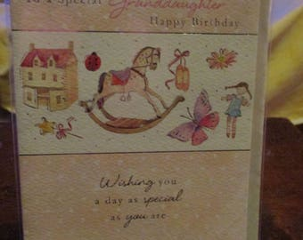 To a Special Granddaughter Happy Birthday Card