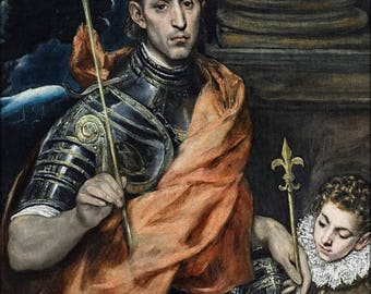 20% Off Sale - Poster, Many Sizes Available; Saint Louis, King Of France, And A Page By El Greco 1585