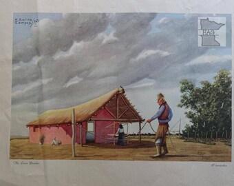 Florencio Molina Campos 'El trenzador' Minneapolis Moline Lithograph 1951 #2