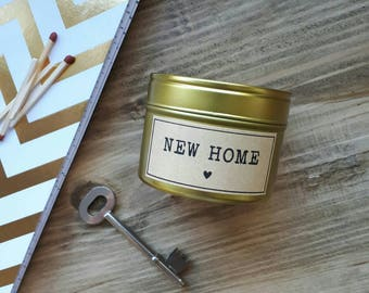 New home candle - handmade soy wax candle tin - natural wax candle - new home gift candle - house warming candle - gift - scented candle