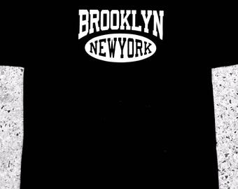 Men's Black Brooklyn New York T-Shirt, Tess, Shirt All Sizes (927)