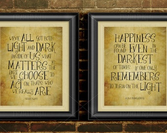 Harry Potter Art Print Sirius Black Quote Kids Room Wall Decor College Student Dorm Room Happiness Can Be Found Both Light and Dark 1202CB