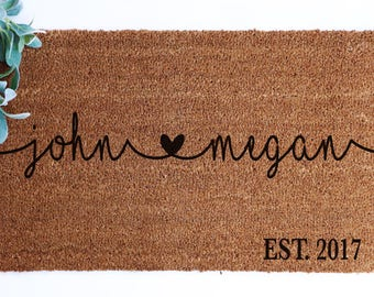 custom name doormat coir gift front porch decor home decor