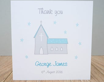 Personalised Christening Thank You Cards - Personalised Baptism thank you cards
