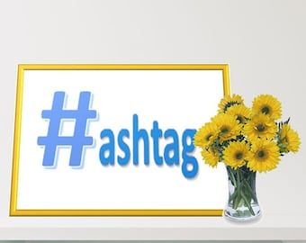 Printable Wall Art - Hashtag Irony - Hipster Humor - Quote