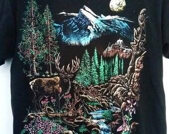 Vintage t-shirt Animal Shirt Deer 1994 Size Large
