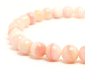 6mm Peruvian Pink Opal Beaded Bracelet