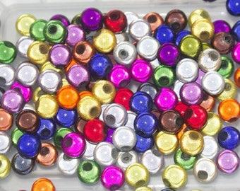 Sachet de perles magiques multicolores rondes 6mm