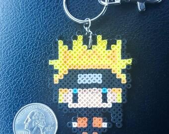 Naruto mini perler bead keychain
