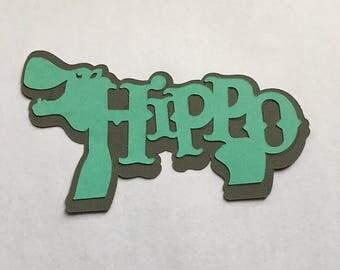 Hippo Die Cut