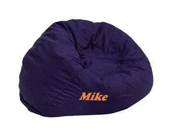 Custom Designed Bean Bag Chair For Kids Or Adults With Your Personalized Name