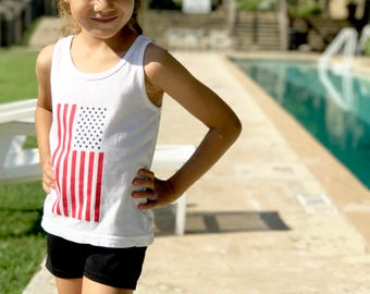 American flag kids tank top, 4th of July tank top, Fourth of July