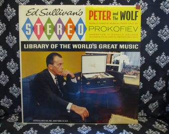 Ed Sullivan's Stereo Library Peter and the Wolf Record LP Album