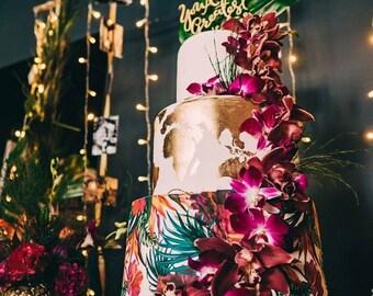 Floral pattern cake wrap, floral cake wrap, floral cake topper, edible floral pattern, floral cake topper, floral wedding cake
