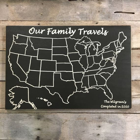 Travel Map Adventure Map Our Family Travels US Wood Map - Wood us map
