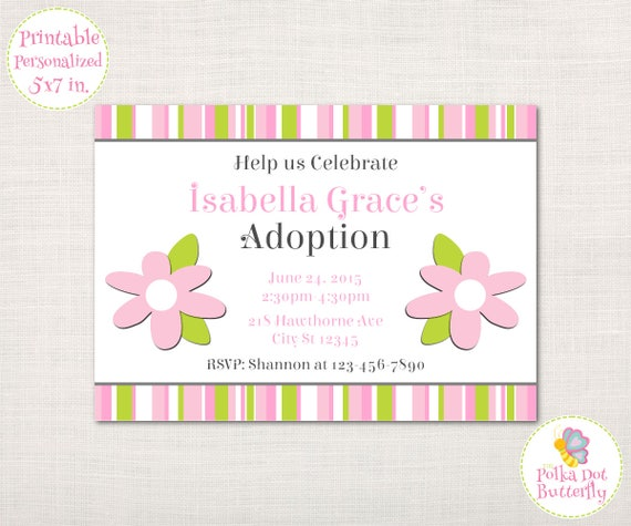 like this item - Adoption Party Invitations