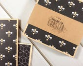 Bee Gift, Honey Bee Gift, Bumble Bee Gift, Bee Coasters, Bee Decor, Bee Hive, Black Decor, Black Coasters, Novelty Gift, Bee Birthday Gift