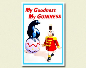 Guinness Beer Print - Beer Poster Vintage Print Retro Kitchen Decor Kitchen Guiness Poster Guinness Print Gift Idea BUY 3 GET 1 FREE bpt
