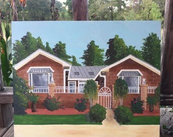 Custom Acrylic Home Painting on Canvas