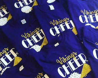 Cheer Team shirts//customized for your cheer team// you pick your team colors