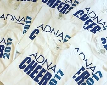 Cheer shirts//t-shirts for cheer//custom team cheerleaders shirt//cheerleading