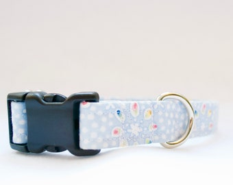 Baby Blue Floral Easter Dog Collar ON SALE -  dog collar - Dog Collar for boys - Dog Collar for girls - new dog gift - puppy gift