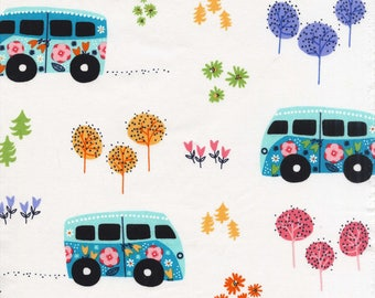 Road Trip by Michael Miller - Hit The Road Celestial - Cotton Woven Fabric