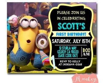 MINION BIRTHDAY Invitation, Minion Birthday, Minion Party Invitation, Minion Birthday Party, Printable Minion Invitation