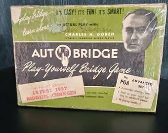 1957 AUTOBRIDGE Play-yourself Bridge Game