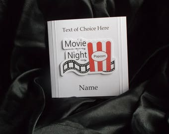 Personalised Movie Night & Popcorn Card Any Occasion, Birthday,Invitation, Thank You, Father's Day, Mother's Day etc.