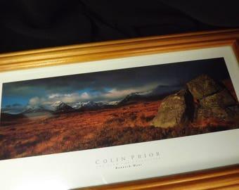 Rannoch Moor, Vintage Scottish Framed Print , Glencoe, Rannoch Moor , Colin Prior, Outlander