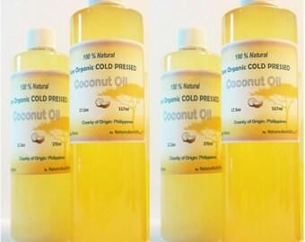 Coconut Oil Organic EXTRA Virgin Unrefined Cold Pressed  16oz
